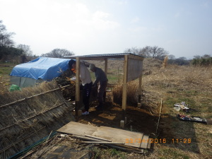作業小屋作り