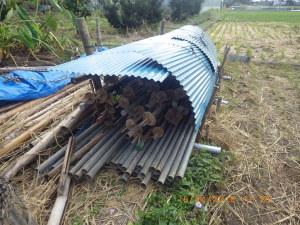 鉄製の稲架掛け台