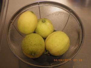 ベランダで収穫したレモン